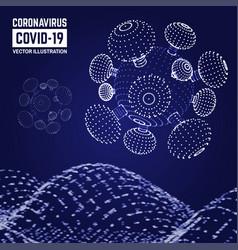 visual analytics coronavirus covid-19 vector image