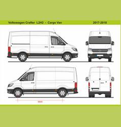 Volkswagen crafter cargo van l2h2 2017-2018 vector