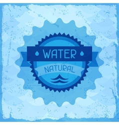 Water natural background in retro style vector