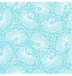 White seamless flower lace pattern vector