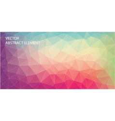 Abstract triangle backgound for web Art backgound vector image