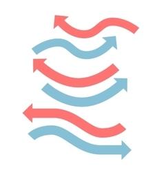 Color arrows flat design set vector image vector image