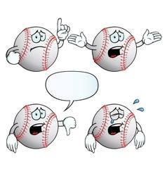 Crying baseball set vector image vector image