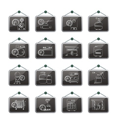 Household Gas Appliances icons vector image