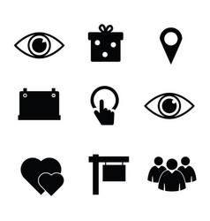 icon set in black color vector image vector image