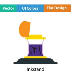 Inkstand icon vector image vector image