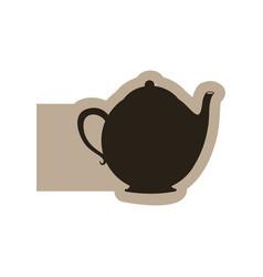 black contour teapot icon vector image