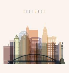 columbus skyline vector image