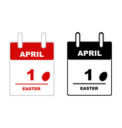 easter calendar 2018 isolated vector image