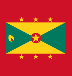 flag of grenada in national colors vector image vector image