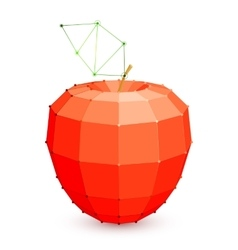Geometric Red Apple vector image vector image