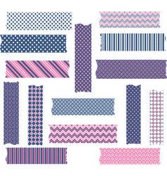 Nany and Pink Washi Tape Graphics set vector image vector image