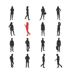 People male female silhouelles in different vector image