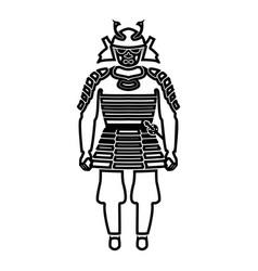 samurai japan warrior icon black color fill vector image