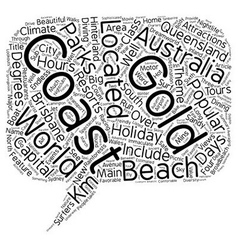 The Gold Coast Queensland Australia The Holiday vector image