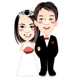 wedding 009 vector image