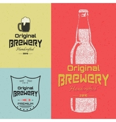 Beer badges logos and labels for any use vector image