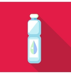 Bottle of water icon in flat style vector image vector image