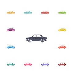 car flat icons set vector image