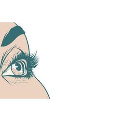 eyes women isolated background vector image