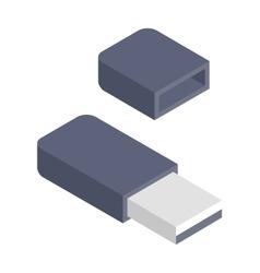 Flash drive vector image