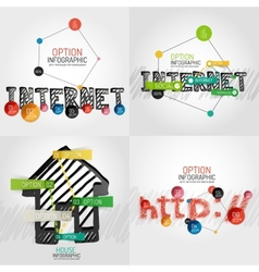 Hand drawn internet concepts and stickers vector image vector image