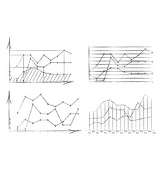set of diagrams drawn with vector image vector image