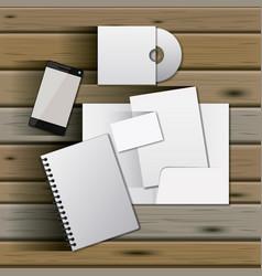 stationary templates of documentation blank design vector image