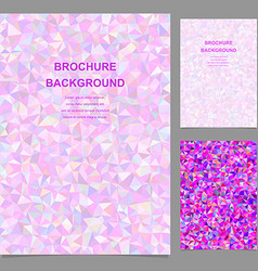 Colored abstract triangle brochure template vector image vector image