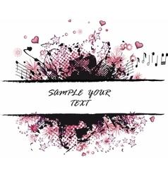 Grunge border pink vector