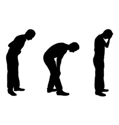 silhouettes of men with injuries vector image