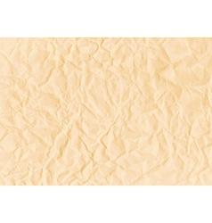 Texture of crumpled horizontal sepia paper vector image