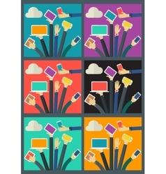 WiFi Gadget Social Network Concept Banner vector image vector image