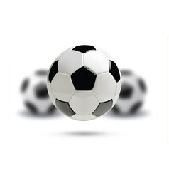 3d football or soccer ball on white background vector image