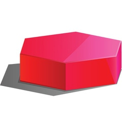 3d hexagon vector