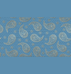 A paisley pattern background with a grunge effect vector