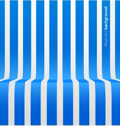 Abstract blue striped perspective background vector image