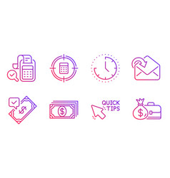 Accepted payment quick tips and receive mail vector