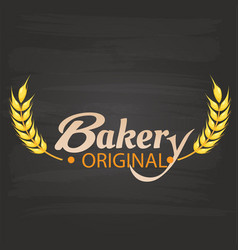 bakery original malt black background image vector image