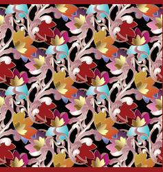 baroque damask seamless pattern vector image