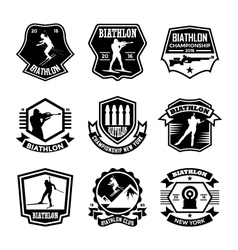 Biathlon Badges vector