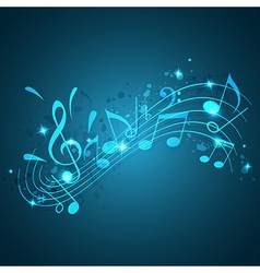 Blue abstract music background vector