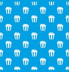 box of popcorn pattern seamless blue vector image