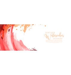 Bright red orange surface splash watercolor vector
