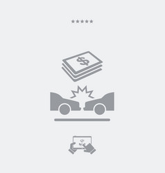 car insurance payment - dollars - web icon vector image