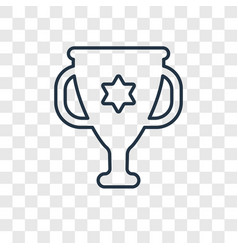 Chalice concept linear icon isolated on vector