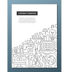 Content curation - line design brochure poster vector