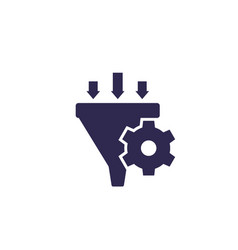 Conversion rate optimization icon vector