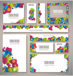 Corporate identity business set design with vector