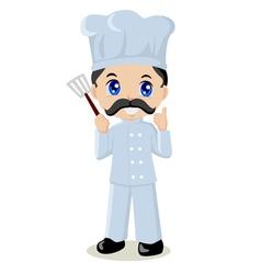 cute cartoon a chef vector image